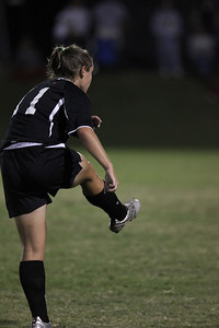 Megan Tremblay, 11, kicks the ball.