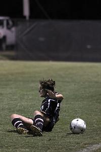 Meagan Reynolds, 17, takes a fall.