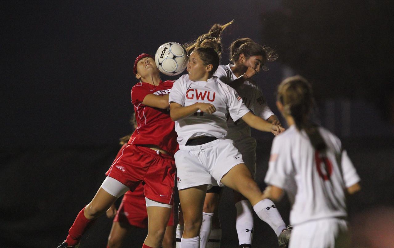 GWU Womens Soccer take on the Liberty Flames