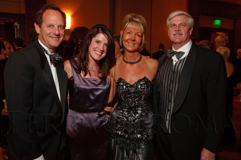 (Denver, Colorado, Oct. 1, 2011)<br /> Mark and Anne Shusterman with Tom and Lisa Corley.  The Carousel Ball, presented by the Children's Diabetes Foundation at Denver, benefiting The Barbara Davis Center for Childhood Diabetes, at Denver Marriott City Center in Denver, Colorado, on Saturday, Oct. 1, 2011.<br /> STEVE PETERSON