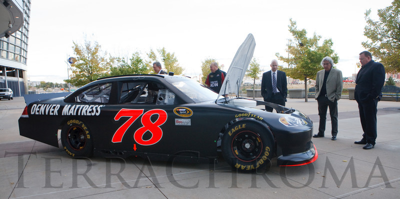 (Denver, Colorado, Oct. 5, 2011)<br /> The #78 car driven by NASCAR racer Regan Smith at the entrance.  The 11th annual Men for the Cure, benefiting the University of Colorado Hospital Foundation, at Sports Authority Field at Mile High in Denver, Colorado, on Wednesday, Oct. 5, 2011.<br /> STEVE PETERSON