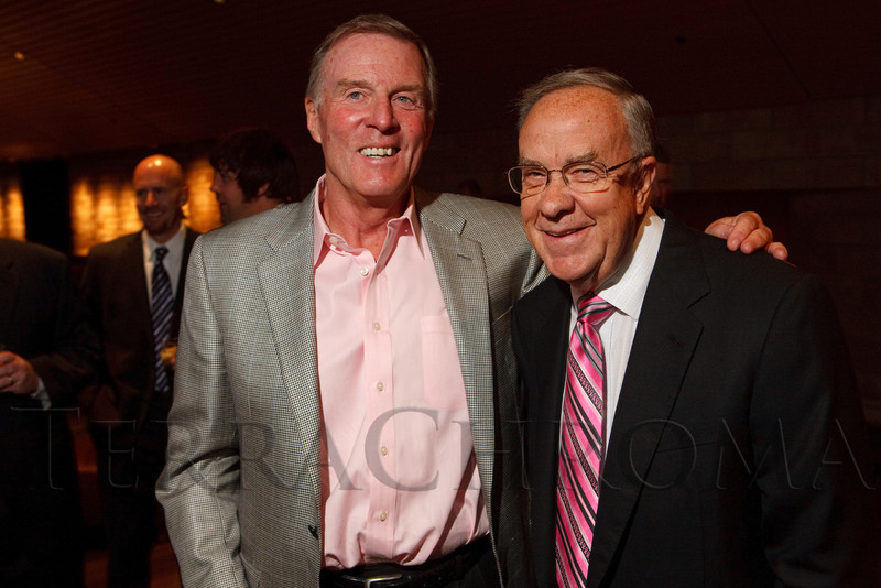 (Denver, Colorado, Oct. 5, 2011)<br /> Bill McCallum and Ernie Blake.  The 11th annual Men for the Cure, benefiting the University of Colorado Hospital Foundation, at Sports Authority Field at Mile High in Denver, Colorado, on Wednesday, Oct. 5, 2011.<br /> STEVE PETERSON