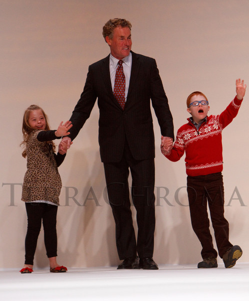 "(Denver, Colorado, Oct. 15, 2011)<br /> John McGinley with models Jaide Tygart (left) and Miles Ross.  The ""Be Beautiful Be Yourself Fashion Show 2011,"" benefiting the Global Down Syndrome Foundation, at the Hyatt Regency Denver at the Colorado Convention Center in Denver, Colorado, on Saturday, Oct. 15, 2011.<br /> STEVE PETERSON"