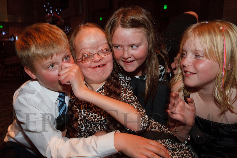 "(Denver, Colorado, Oct. 15, 2011)<br /> Alexandra Shankle and siblings.  The ""Be Beautiful Be Yourself Fashion Show 2011,"" benefiting the Global Down Syndrome Foundation, at the Hyatt Regency Denver at the Colorado Convention Center in Denver, Colorado, on Saturday, Oct. 15, 2011.<br /> STEVE PETERSON"