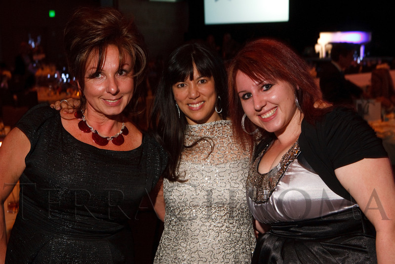 """(Denver, Colorado, Oct. 15, 2011)<br /> Tatyana Dubnikov, Michelle Sie, and Anna Dubnikov.  The """"Be Beautiful Be Yourself Fashion Show 2011,"""" benefiting the Global Down Syndrome Foundation, at the Hyatt Regency Denver at the Colorado Convention Center in Denver, Colorado, on Saturday, Oct. 15, 2011.<br /> STEVE PETERSON"""