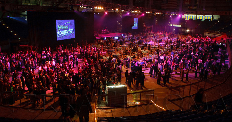 (Denver, Colorado, Oct. 22, 2011)<br /> The arena floor transformed into a concert stage and ballroom.  Western Fantasy, benefiting Volunteers of America, Colorado Branch, at the National Western Events Center in Denver, Colorado, on Saturday, Oct. 22, 2011.<br /> STEVE PETERSON