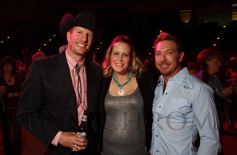 (Denver, Colorado, Oct. 22, 2011)<br /> Scott Coors, Ashley Coors, and Dr. David Hurt.  Western Fantasy, benefiting Volunteers of America, Colorado Branch, at the National Western Events Center in Denver, Colorado, on Saturday, Oct. 22, 2011.<br /> STEVE PETERSON