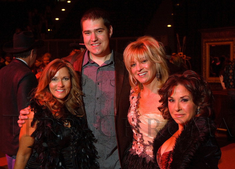 (Denver, Colorado, Oct. 22, 2011)<br /> Patti Mustari, Denise Snyder, Tommy Collier, and Patti Shyne.  Western Fantasy, benefiting Volunteers of America, Colorado Branch, at the National Western Events Center in Denver, Colorado, on Saturday, Oct. 22, 2011.<br /> STEVE PETERSON