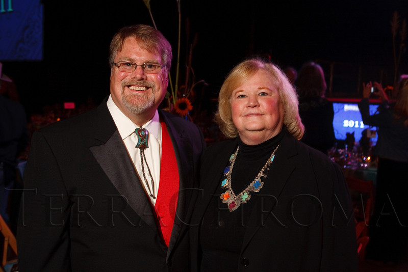 (Denver, Colorado, Oct. 22, 2011)<br /> Bob Bardwell (VOA Colorado board of directors chair) and Dianna Kunz (VOA president and CEO).  Western Fantasy, benefiting Volunteers of America, Colorado Branch, at the National Western Events Center in Denver, Colorado, on Saturday, Oct. 22, 2011.<br /> STEVE PETERSON