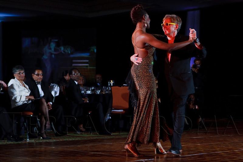 (Denver, Colorado, Oct. 29, 2011)<br /> Chuck Morris and Saidiya Imari dance a waltz.  Dancing with the Denver Stars Gala, benefiting Cleo Parker Robinson Dance, at the Renaissance Denver Hotel in Denver, Colorado, on Saturday, Oct. 29, 2011.<br /> STEVE PETERSON