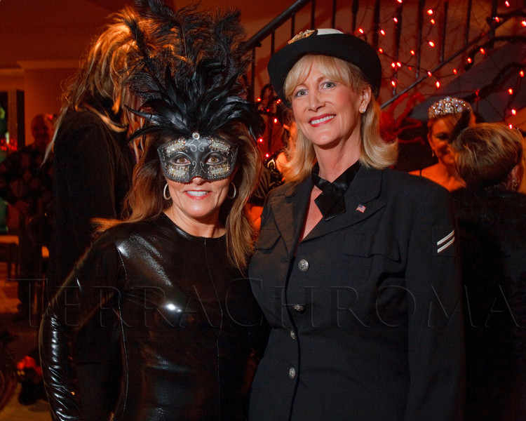 (Denver, Colorado, Oct. 29, 2011)<br /> Patti Mustari and Lainey Hamrick.  Halloween party at the home of Denise and Brent Snyder in Denver, Colorado, on Saturday, Oct. 29, 2011.<br /> STEVE PETERSON