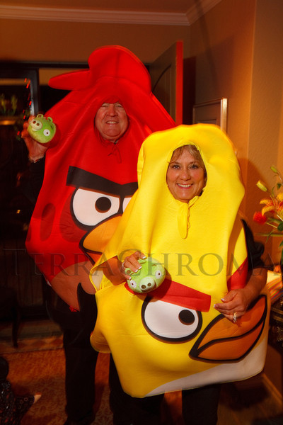 (Denver, Colorado, Oct. 29, 2011)<br /> Jack Fitzgibbons and Adrienne Ruston Fitzgibbons.  Halloween party at the home of Denise and Brent Snyder in Denver, Colorado, on Saturday, Oct. 29, 2011.<br /> STEVE PETERSON