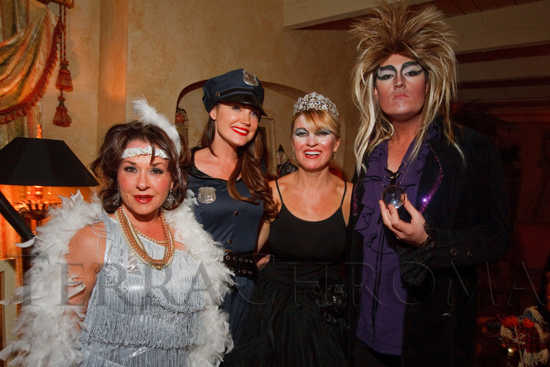 (Denver, Colorado, Oct. 29, 2011)<br /> xxx, Denise Plante, Denise Snyder, and Tommy Collier.  Halloween party at the home of Denise and Brent Snyder in Denver, Colorado, on Saturday, Oct. 29, 2011.<br /> STEVE PETERSON