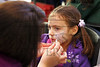 Natalia Rubin-Alvarez, 4, gets her face painted at The Arts Fair held at the Wright State University  Creative Arts Center on Oct. 15, 2011<br /> ©  2011 Photograph by Skip Peterson<br /> Permission granted by mother, Dorothy Alvarez, WSU Modern Language Dept.