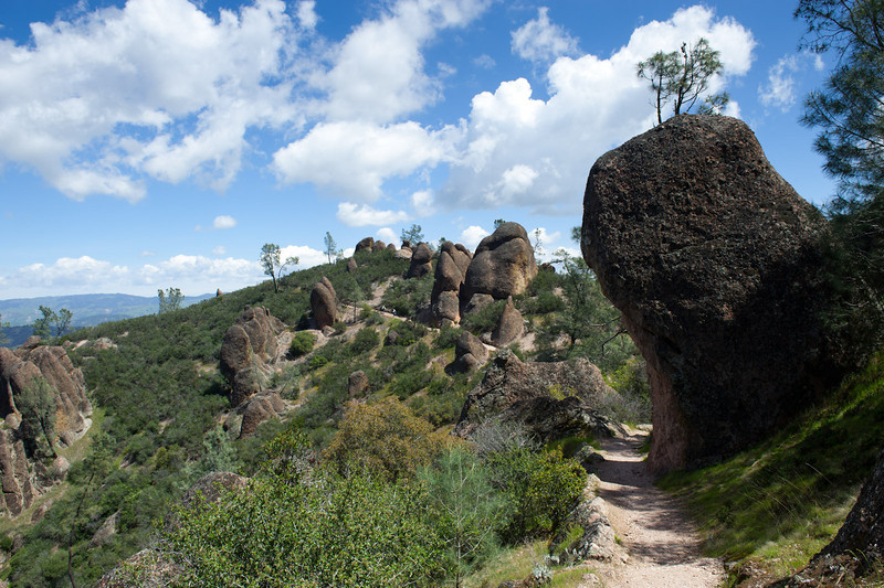 Passing among the rocks