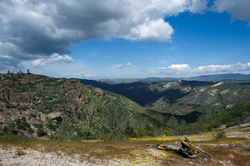 Clouds gathering above Pinnacles