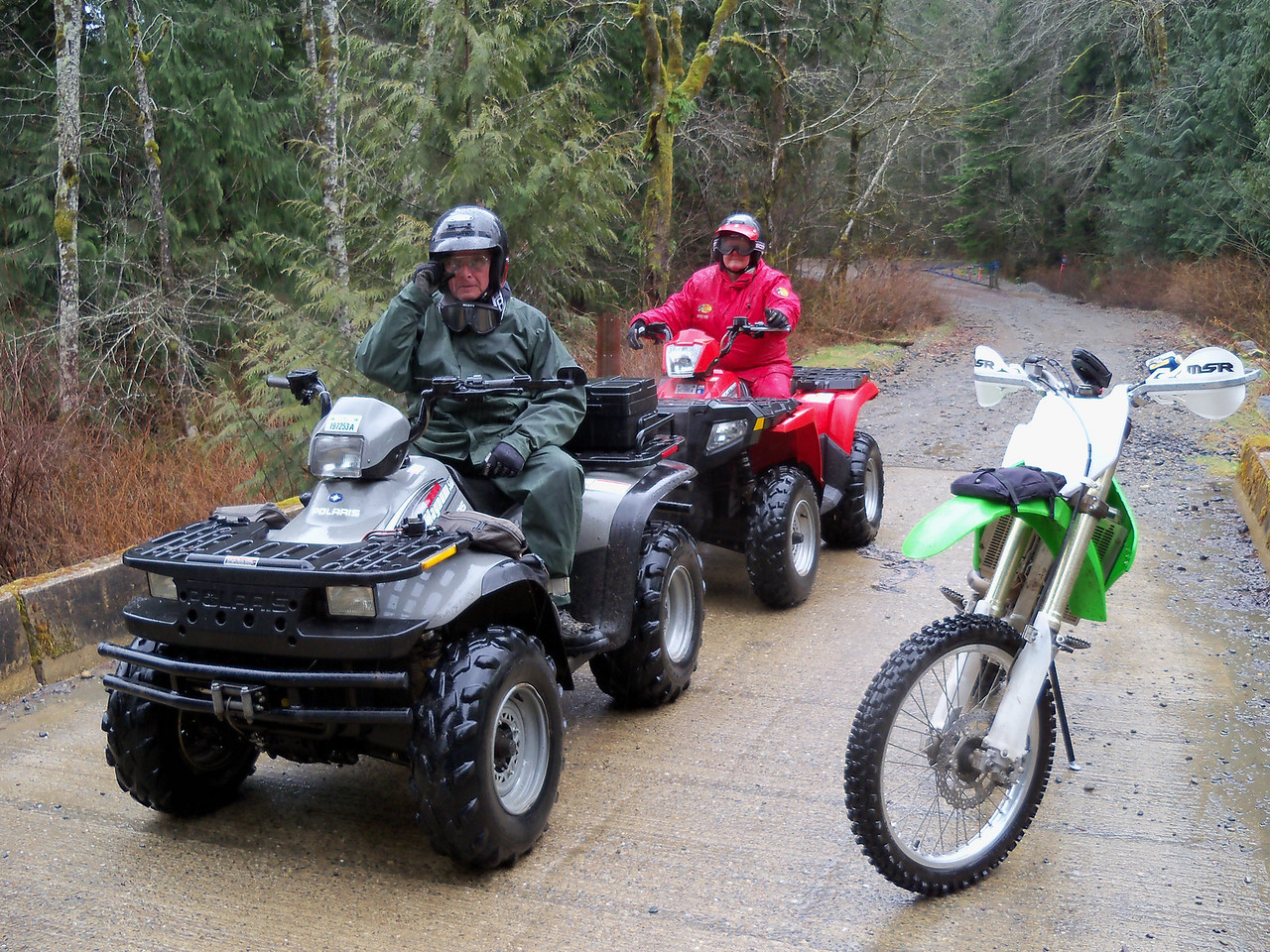 Friday's Quad ride with my brother  Tim and Maureen