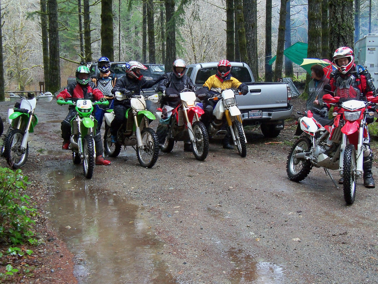 Saturday we started with 10 roders, Gary, Greg, Kurt, Bill, Danny, Steve, Lan, Kris, Bart, Rob...