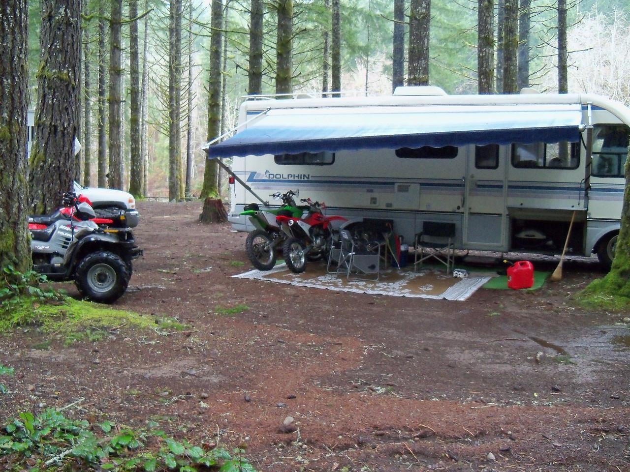 Roughing  it, Lan & Sylvia's camp