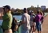 Spectators on the bridge