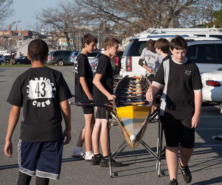 Novice Boys rigging Eight