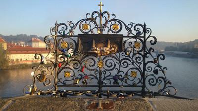 Charles Bridge love padlocks.