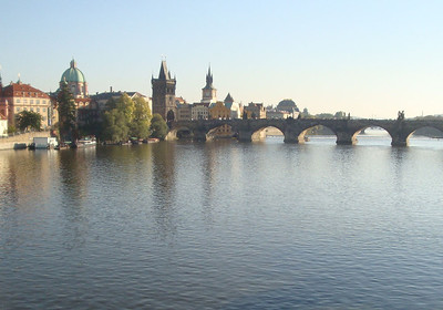 We stayed in a very up-market hostel at the end of Charles Bridge.