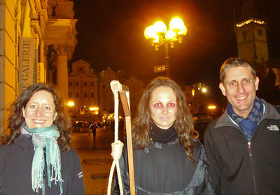 Seeking greater expertise, we signed onto a ghost tour. Our haunted-looking guide seemed to know a disturbing amount about the Golem and the other unquiet spirits whom apparently continue to prowl Prague's ancient cobblestones.