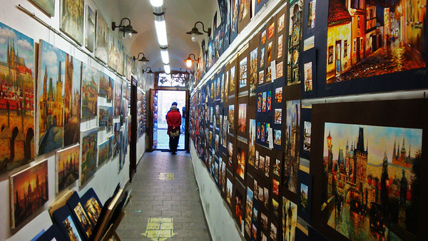 This was the entrance hall to our hostel. Art was everywhere, all of it for sale.