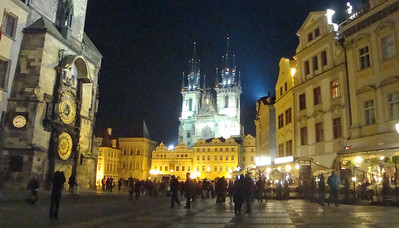 Old Town Square night