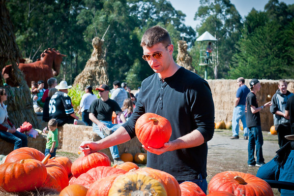Mark's still trying to find the right pumpkin