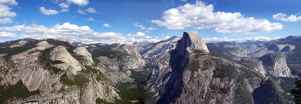 Sometimes you need some distance to see the big picture.  High Country Panorama from Glacier Point.