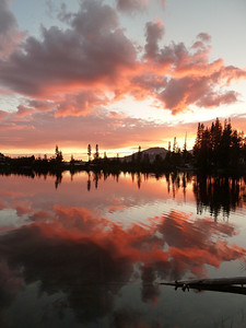 Even God blushes. Lower Cathedral Lake.