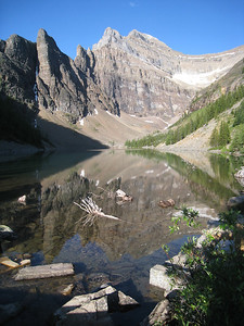 Lake Agnes, above Lake Louise Chateau