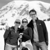 Very snowy hike ... Adding a little bokeh to Mt. Rainier on this one in B/W.