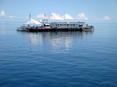 Reefworld, anchored at Hardy Reef, is the largest pontoon floating on the outer barrier reef.
