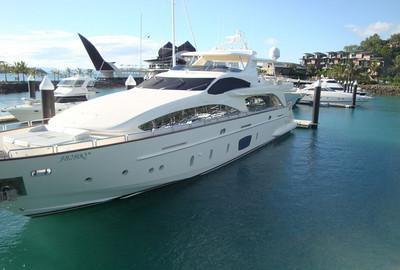 Hamilton Island mega-yacht.