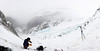 A panorama of Eklutna Glacier Valley from our vantage at our high point.