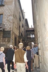 Manuevering the narrow street