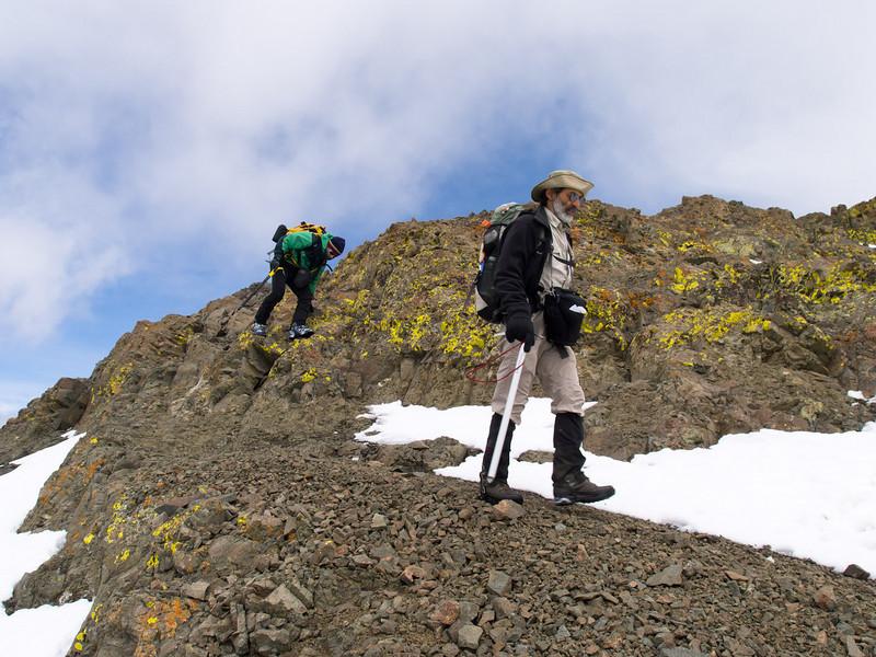 Among rock and lichen