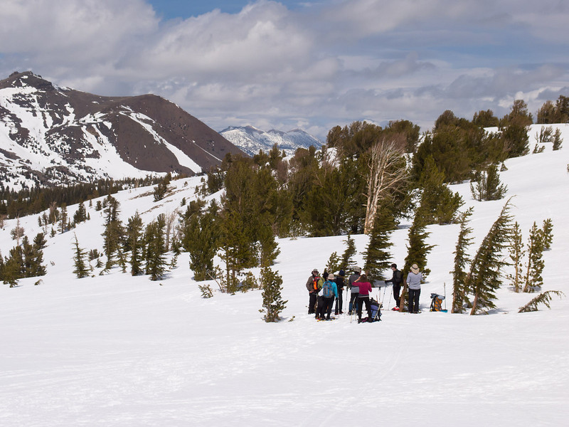 Pausing in sight of Red Lake Peak