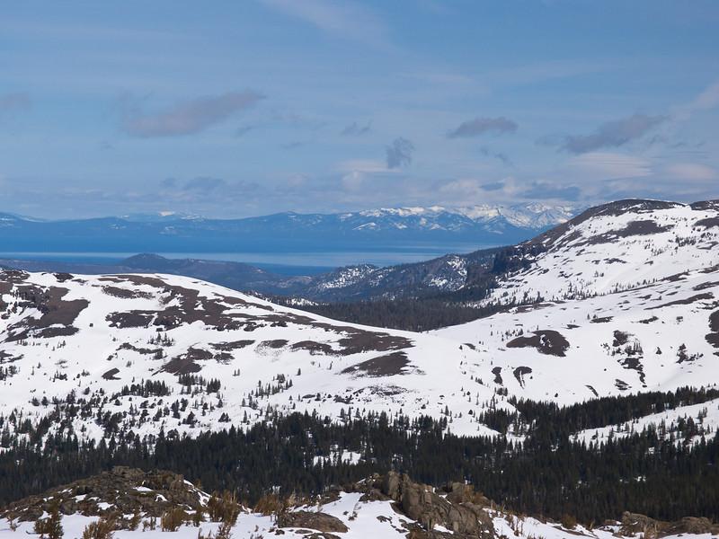 Lake Tahoe, 30 miles away