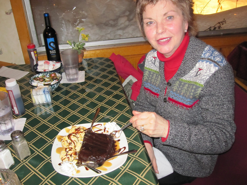 PAM TOO!!  CHOCOLATE BROWNIE LIKE NEVER BEFORE SEEN...NO LESS THAN PROBABLY TEN THOUSAND CALORIES!!
