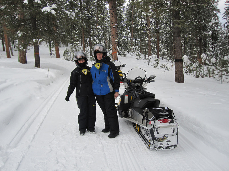 PAM & SUE EAGAN ON THE TRAIL