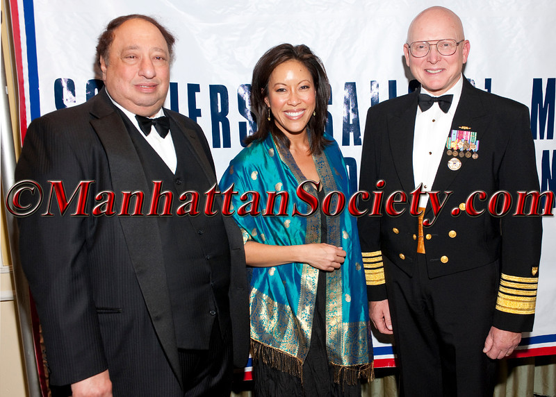 John Catsimatidis,Cindy Hsu and Admiral Robert J. Papp, Jr. attend The Soldiers', Sailors', Marines', Coast Guard and Airmen's Club's 15th Annual Military Ball saluting the United States Coast Guard on Friday, October 14, 2011 at  The Pierre Hotel, 2 East 61st Street at Fifth Avenue, New York City, NY  PHOTO CREDIT: ©Manhattan Society.com/Christopher London