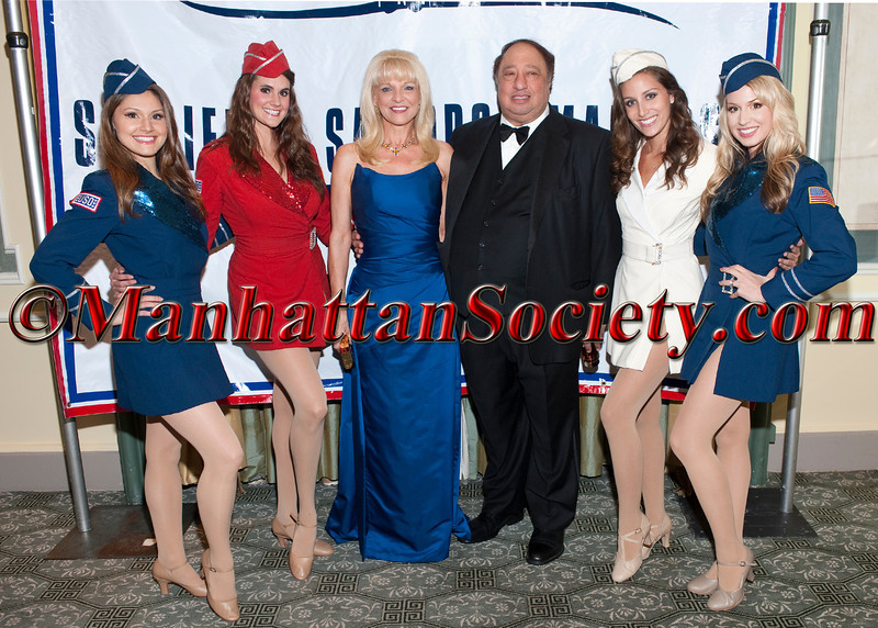 Margo Catsimatidis, John Catsimatidis & USO girls attend The Soldiers', Sailors', Marines', Coast Guard and Airmen's Club's 15th Annual Military Ball saluting the United States Coast Guard on Friday, October 14, 2011 at  The Pierre Hotel, 2 East 61st Street at Fifth Avenue, New York City, NY  PHOTO CREDIT: ©Manhattan Society.com/Christopher London