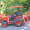 """ADAM'S FIRST SHOT AT DRIVING A TRACTOR...NEXT TIME...""""BACKHOE OPERATOR LESSONS"""""""