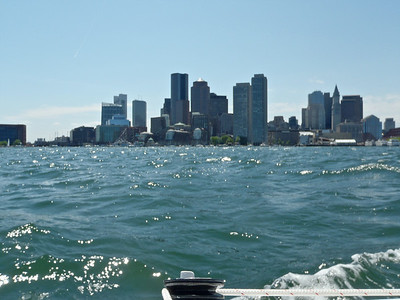Boston from the water.