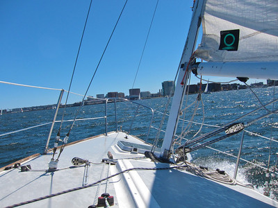 On the J24 free Sail weekend at Boston Sailing Center