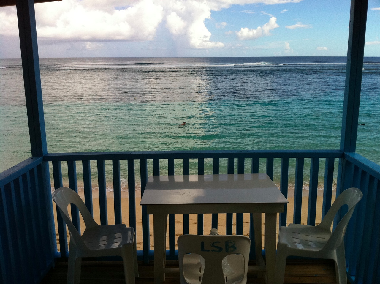 View from my fale!